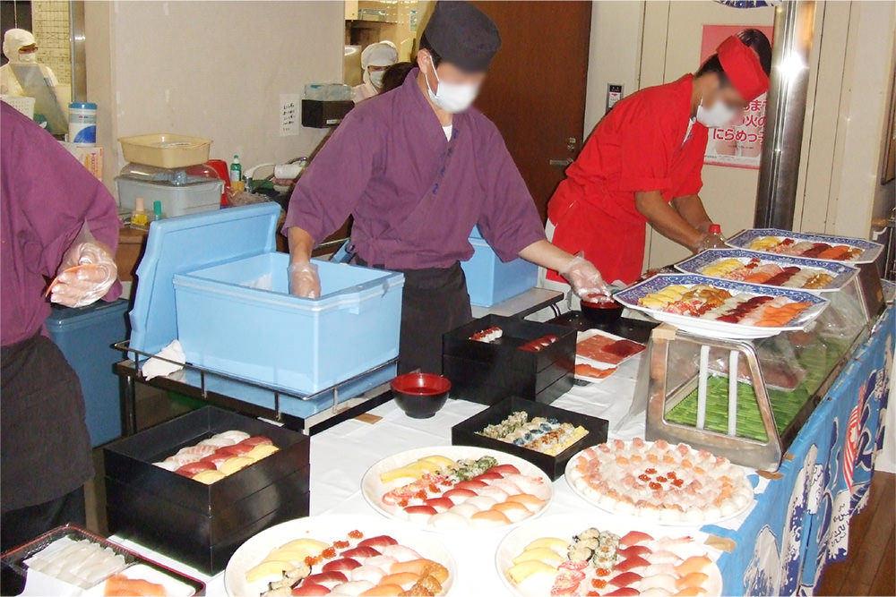 虹が丘リハビリケアセンターの寿司イベント